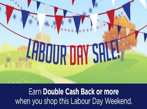 Swagbucks Labour Day Sale Double Cash Back