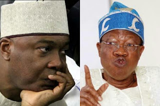 Bukola Saraki and Lai Mohammed