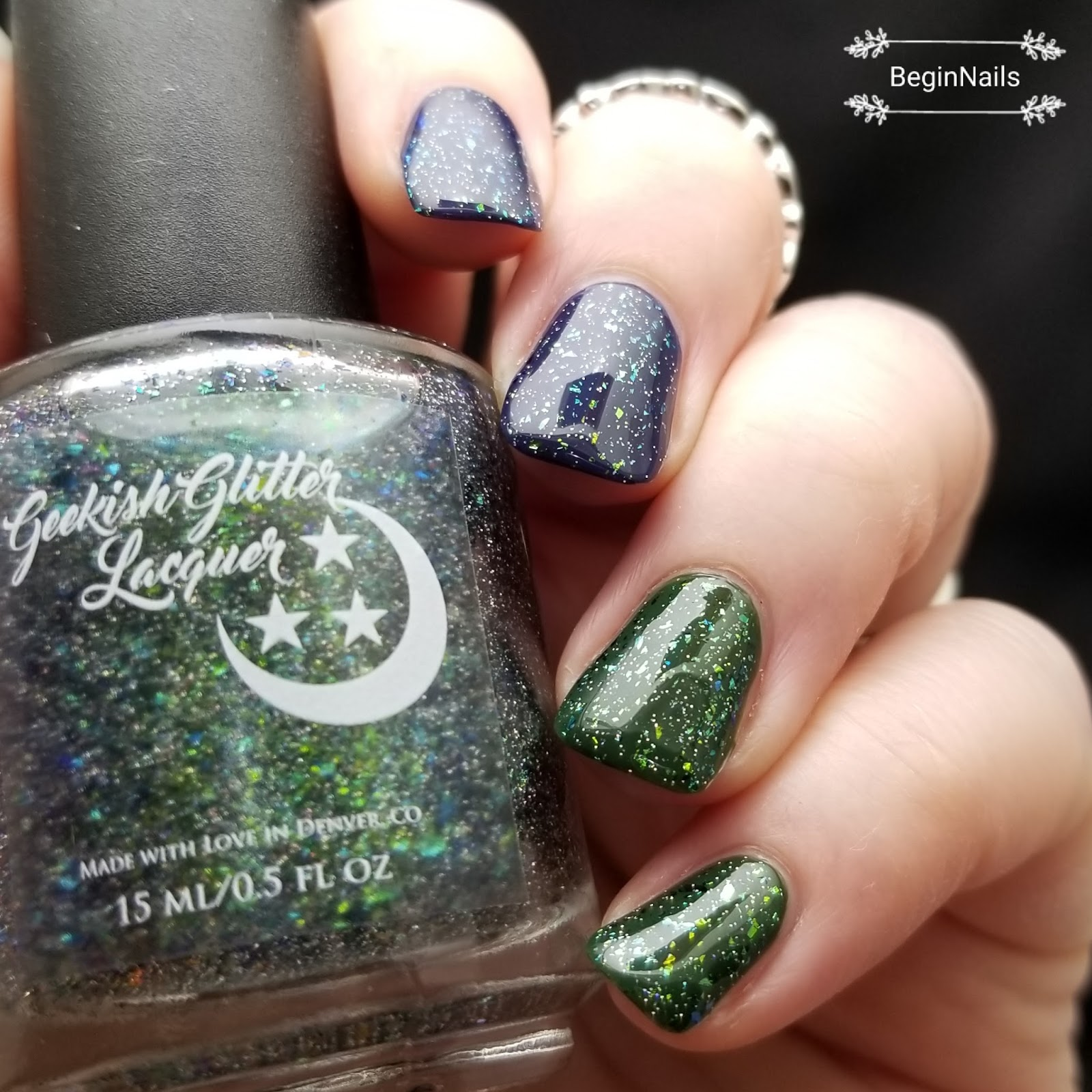 Let\'s Begin Nails: Geekish Glitter Lacquer Swatch and Review