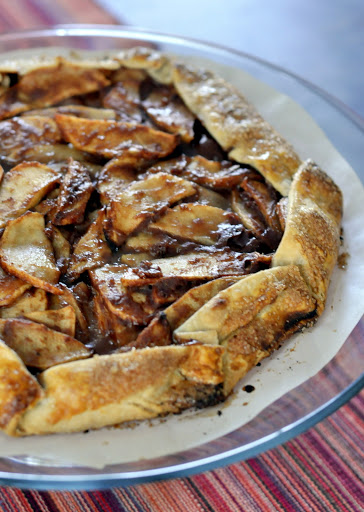 Simple Vanilla Apple Galette | Taste As You Go