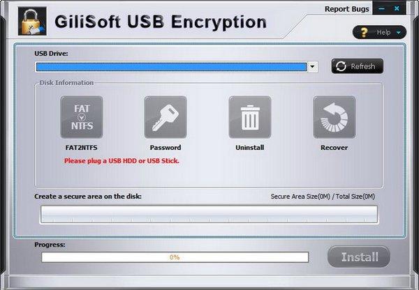 gilisoft usb stick encryption