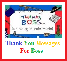thank you messages for bosses