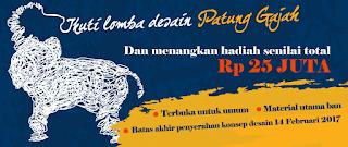 Lomba Desain Patung Gajah Berhadiah 25 Juta Rupiah