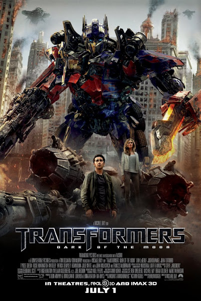 Poster of Transformers 3 Dark of the Moon 2011 Dual Audio 1080p Hindi BluRay