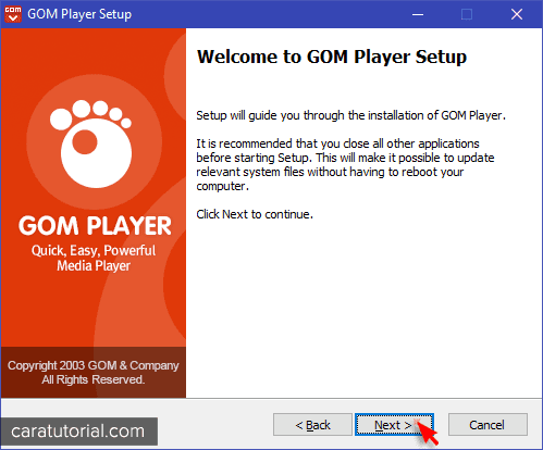 Instal GOM Player