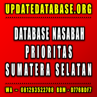 Jual Database Nasabah Sumatera Selatan
