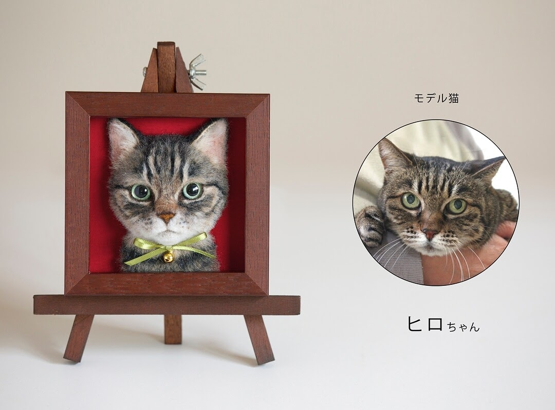 08-Wakuneco-Wool-Needle-Felt-Cat-Portraits-and-Video-Demonstration-www-designstack-co