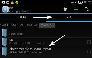 cheat level zombie tsunami dengan mudah