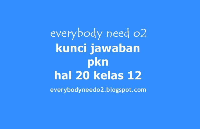 Kunci Jawaban Pkn Hal 20 Kelas 12