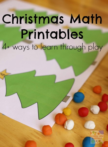 preschool christmas math printables