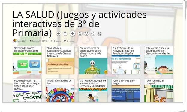 """""""10 juegos y actividades interactivas para el estudio de LA SALUD en 3º de Primaria"""""""