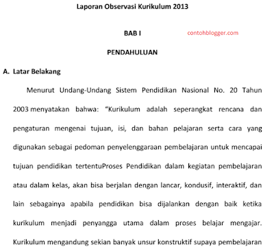 Download Contoh Makalah Observasi Terbaru