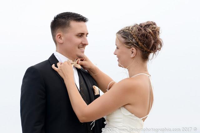 portrait mariés avec noeud papillon