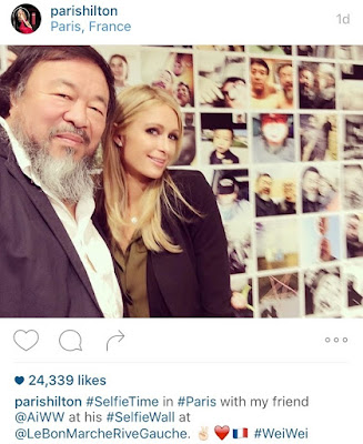 This selfie of Ai Wei Wei and Paris Hilton subverts expectation.