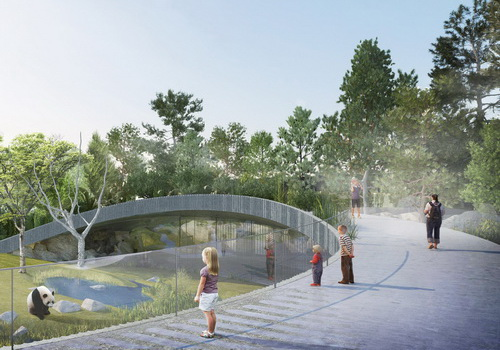 www.Tinuku.com BIG announced Panda House design implementing Yin and Yang philosophy in circular shape at Copenhagen Zoo