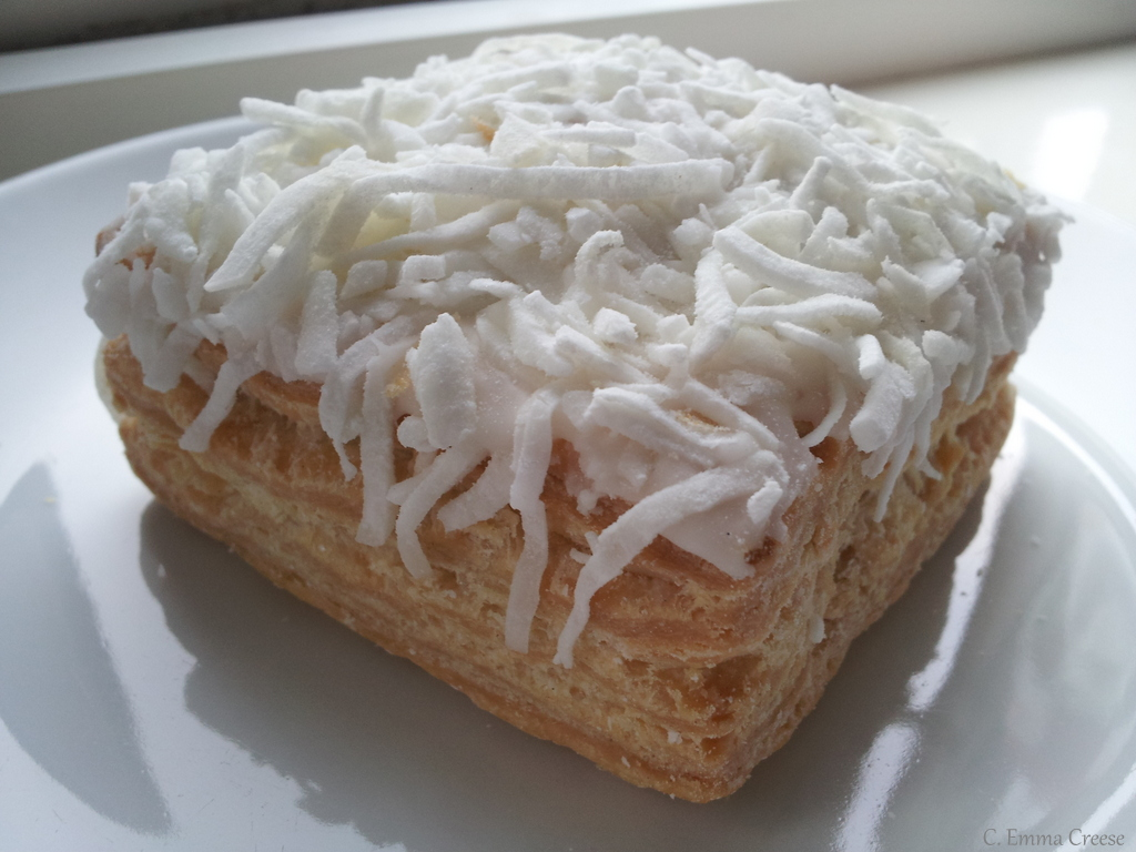 Jam And Coconut Sponge Cake Using Mashed Potato