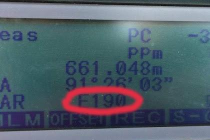 Penyebab Dan cara mengatasi error E190 pada total station sokkia