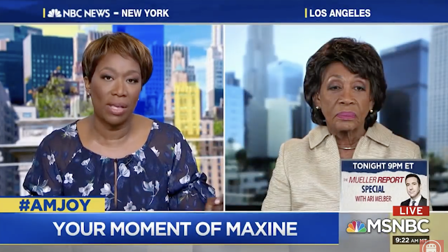 MAXINE Waters to Joy Reid: 'This is not the end of anything!'