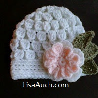 Crochet cluster hat free pattern - crochet flower pattern