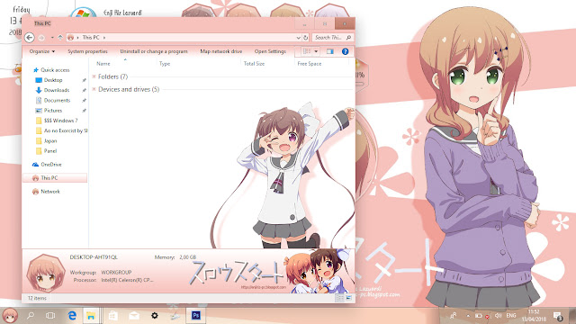 Windows 10 Ver. 1709 Theme Slow Start by Enji Riz