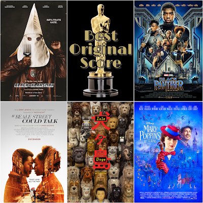 Best Original Score 2019 Academy Awards Predictions