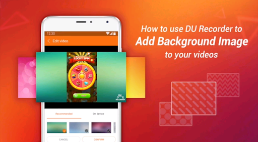 How to Add Background to video on Android using Du Recorder