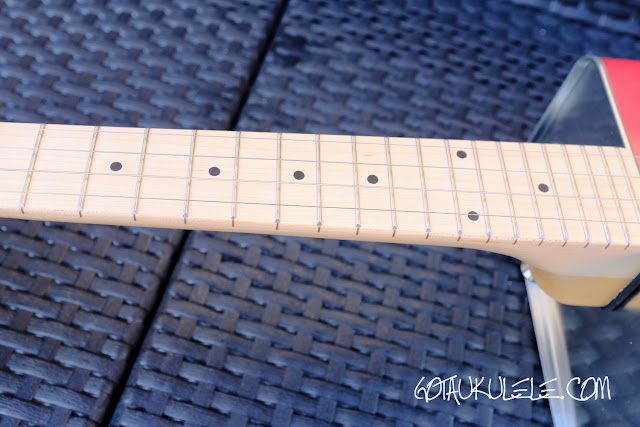 Bohemian Electric Soprano Ukulele neck