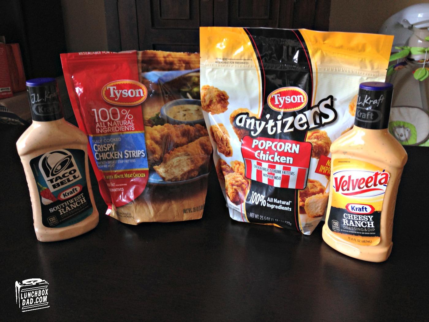 Tyson Chicken and Kraft Ranch Dip #SuperMoments #cbias #ad