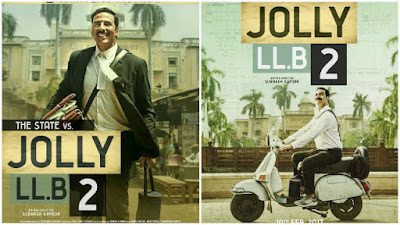 Senarai Filem Bollywood Bulan April 2018, List Filem Bollywood - April 2018, Bollywood Movie, Hindi Movie, Filem Hindustan, Review By Miss Banu, Blog Miss Banu Story, Poster Filem Jolly LLB 2, Hindi Movie Jolly LLB2, Sequel, Jolly LLB 2, 2017, Jolly LLB2 Cast, Pelakon Filem Bollywood Jolly LLB 2, Akshay Kumar, Huma Qureshi, Saurabh Shukla, Annu Kapoor, Kumud Mishra, Sayani Gupta, Peguam, Mahkamah, Kes Mahkamah, Jenayah, Hakim, Kelakar, Black Comedy, Sinopsis Jolly LLB 2,