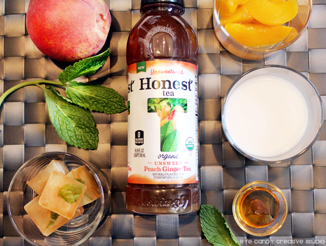 honest tea, peach ginger, ingredients to make a peach ginger iced latte