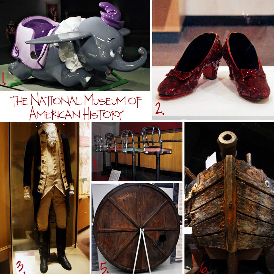National Museum of American History collage by Tricia @ SweeterThanSweets