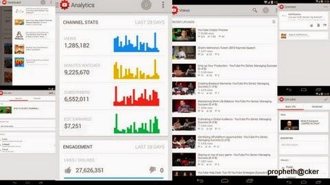 youtube creater studio android app