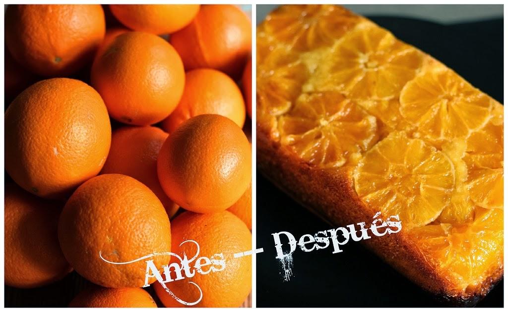Pastel de naranja invertido