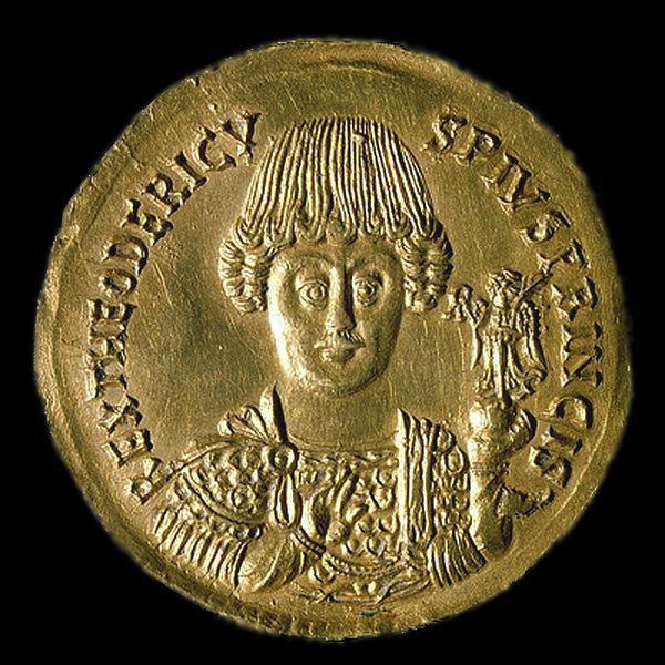 Anverso del medallon de Senigallia de Teodorico el grande