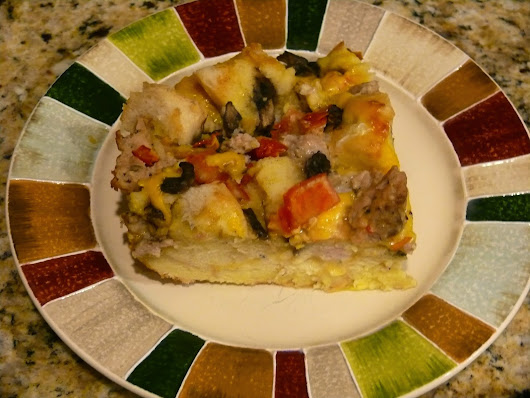 Overnight Sausage & Vegetable Strata