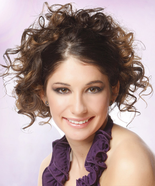 dewi image casual updo long curly hairstyles