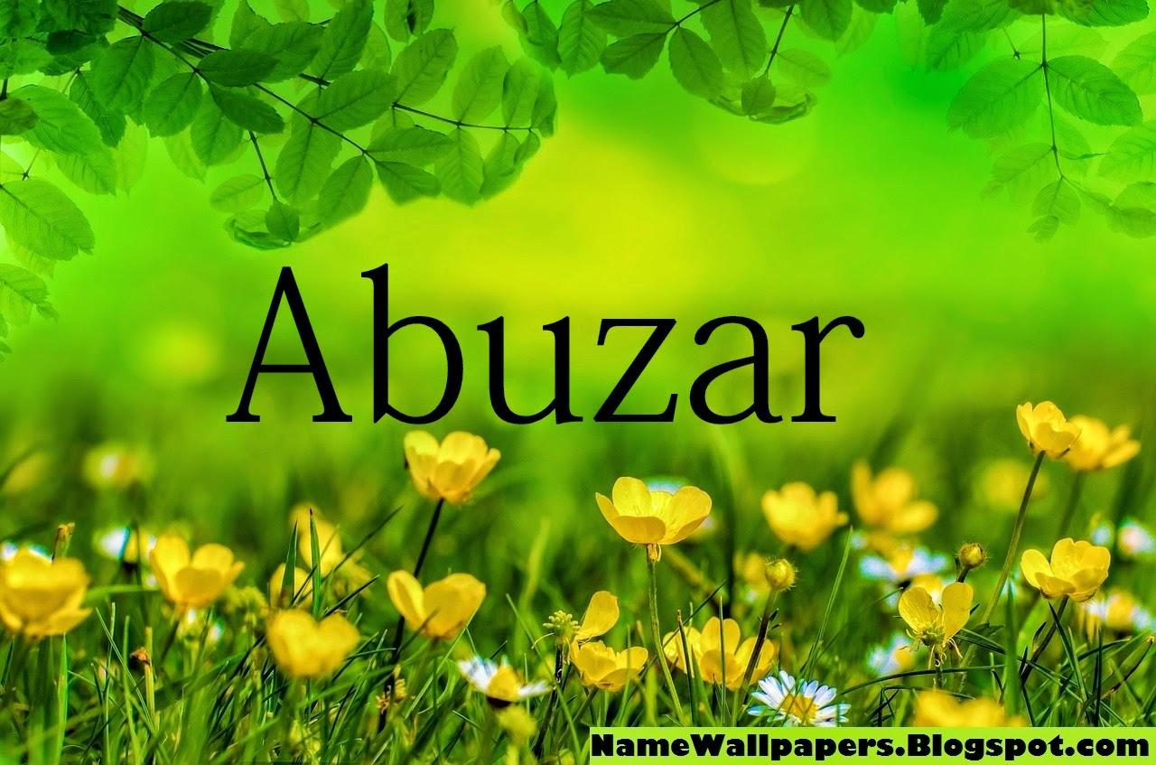 Abuzar Name Wall...K M Name Wallpaper