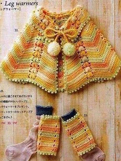 Patrón 1072 Capa niña a Crochet