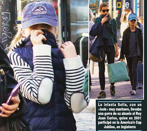 Queen Letizia, Princesses Leonor and Sofia were photographed during they were shopping in Madrid