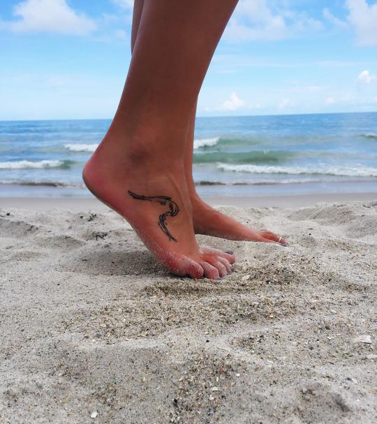 Cute Foot Wave Tattoo