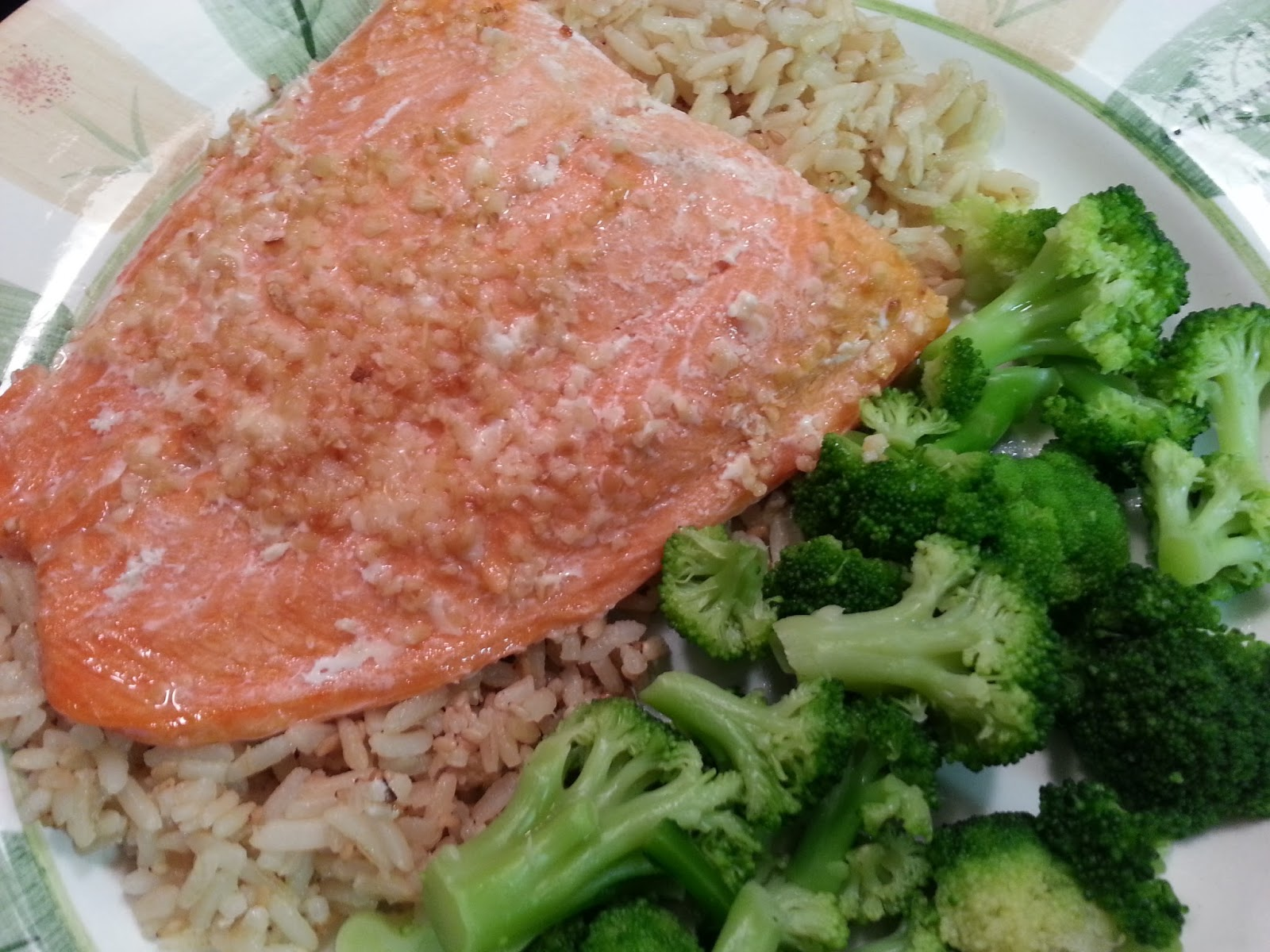 Southern Mommyhood: No Dairy, No Soy, All Love: What's For Dinner: Baked Garlic Salmon, Rice ...