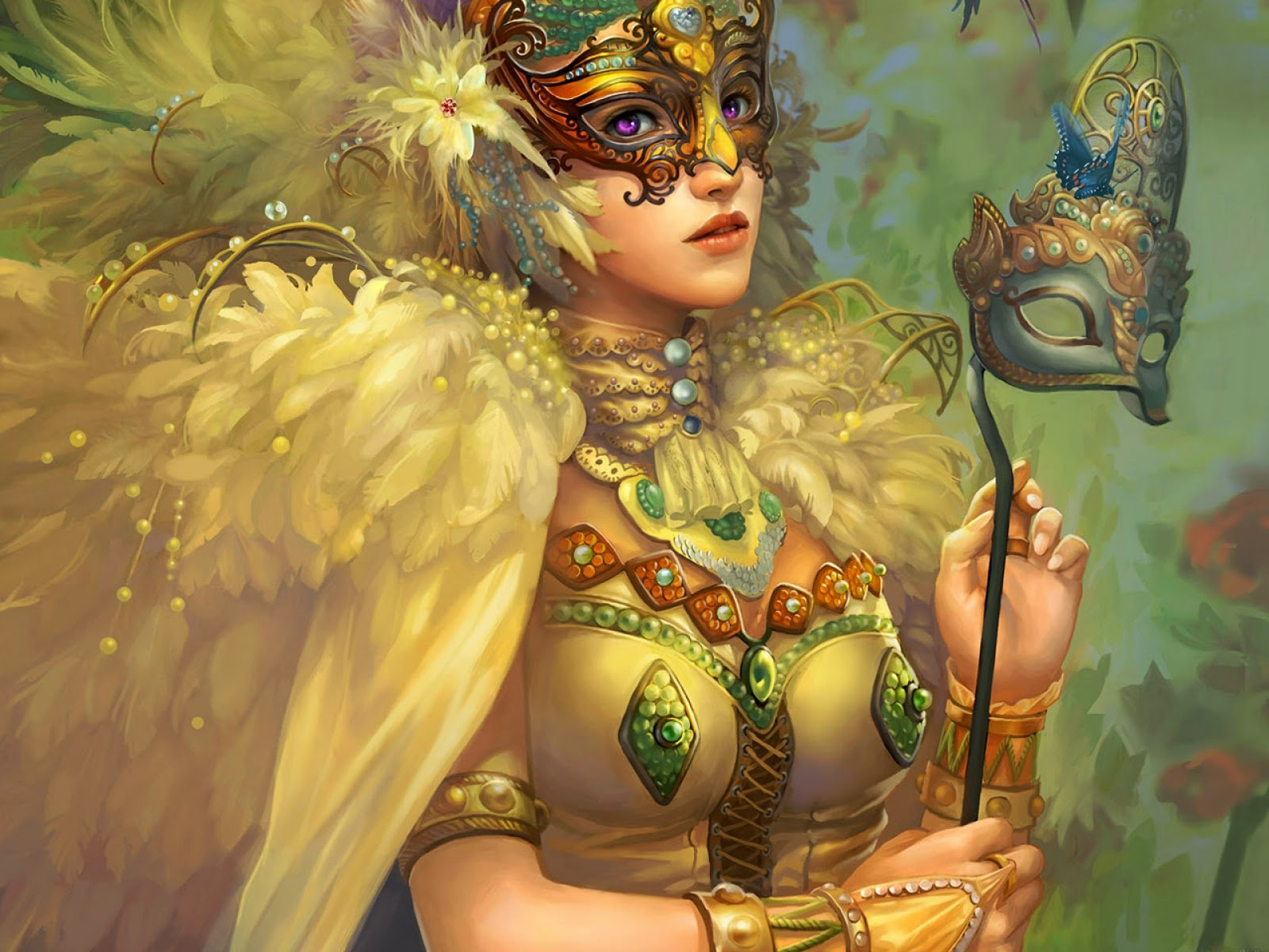 Girl With Spear Wallpaper 3d Fantasy Girls Hd Wallpapers Awesome Wallpapers