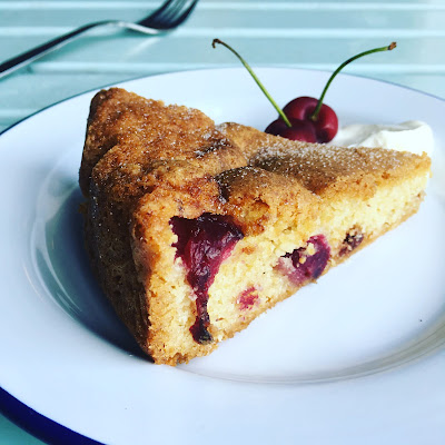 cherry and almond cake, the grazer, cook house