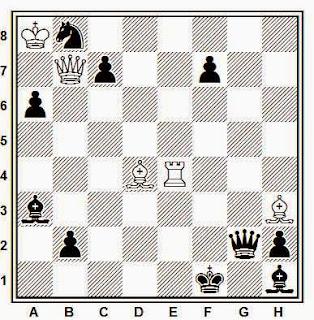Problema de mate en 2 compuesto por E. Puig Ambrós (1º mención, Federación Catalana de Ajedrez, 1936)