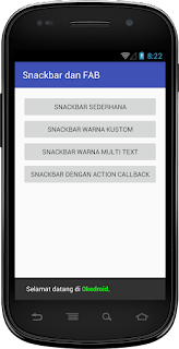 Hasil Snackbar Warna Multitext Android