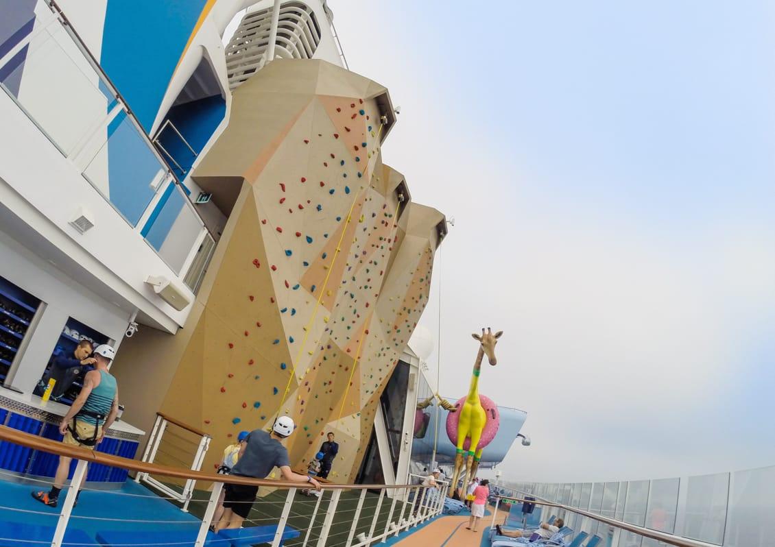 Rock climbing, gigi giraffe, anthem of the seas