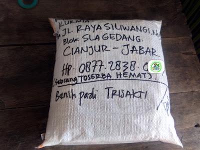 Benih pesana  pertama 2,5 kg  KURNIA Cianjur, Jabar.   (Sesudah Packing)