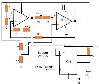 PWM pure sine wave processor stage using opamps and IC 555