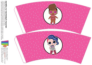 LOL Surprise Free Printable Cup Labels.