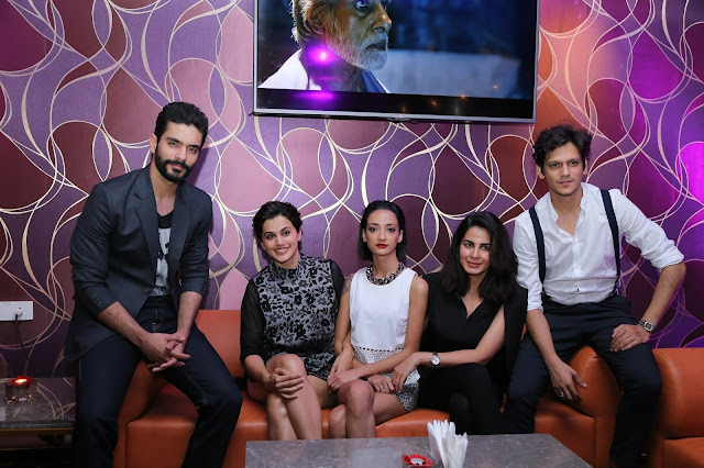 Star cast of PINK Movie at the opening of IQ The Lounge Bar at Mercure Hyderabad KCP1-min